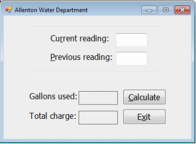 4C2 Allenton Water - VisualBasic @GLHS with Mrs Rice